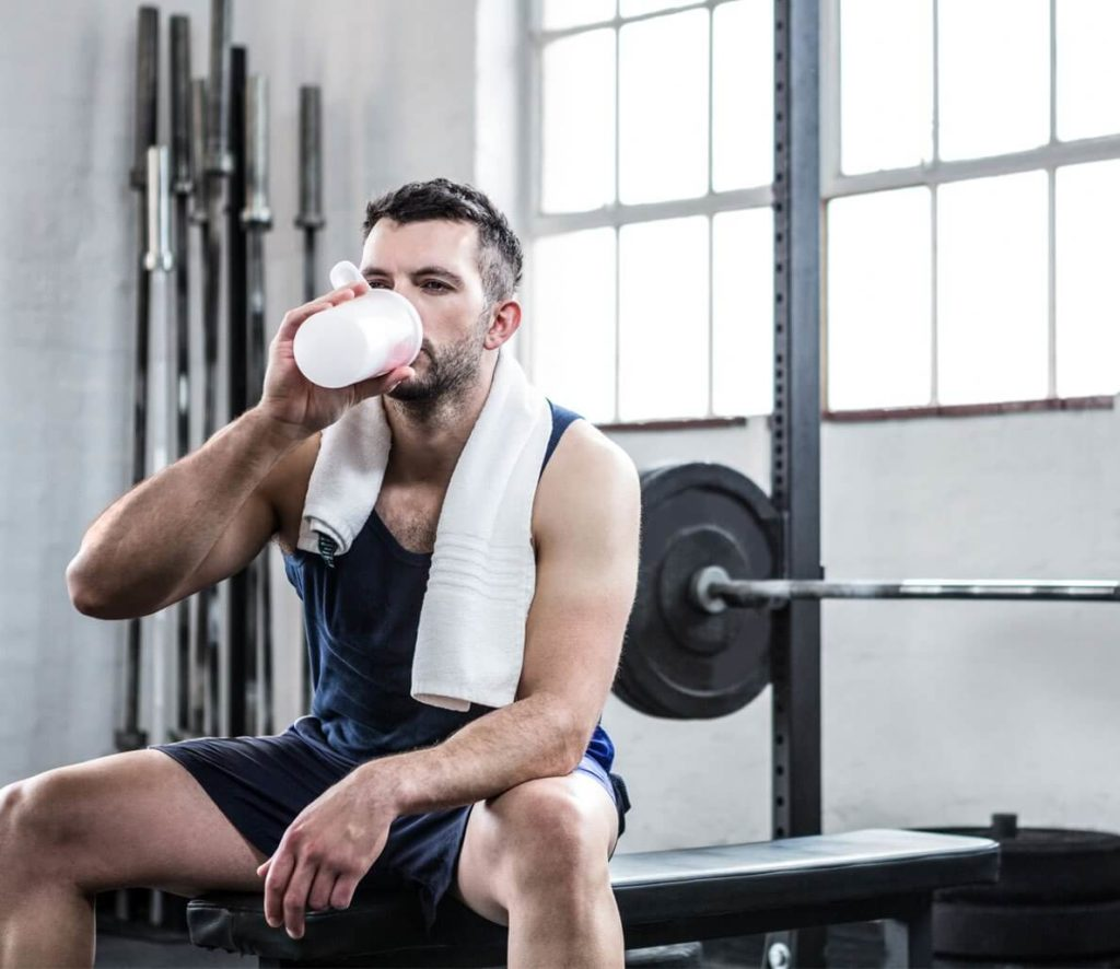 Drink a shake during training