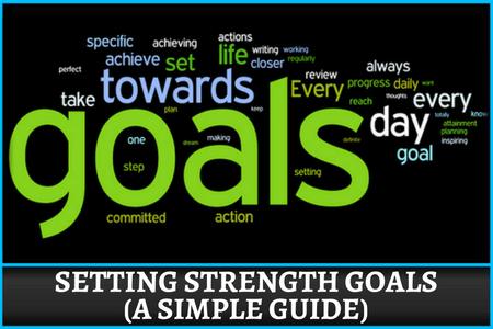 Set strength goals