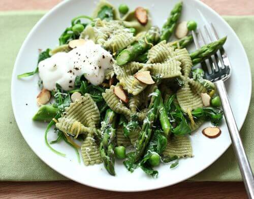 Asparagus and Peas with Anchovy wearing Recipe