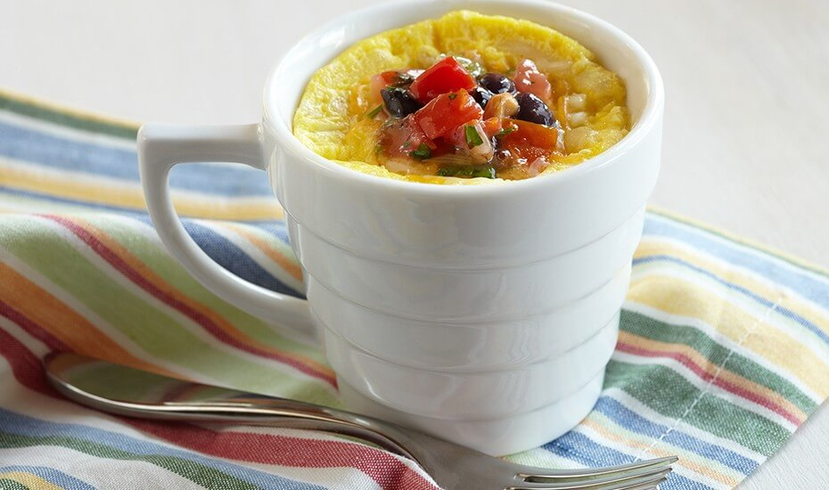 Microwave Eggs in a Cup: Coffee Cup Scramble